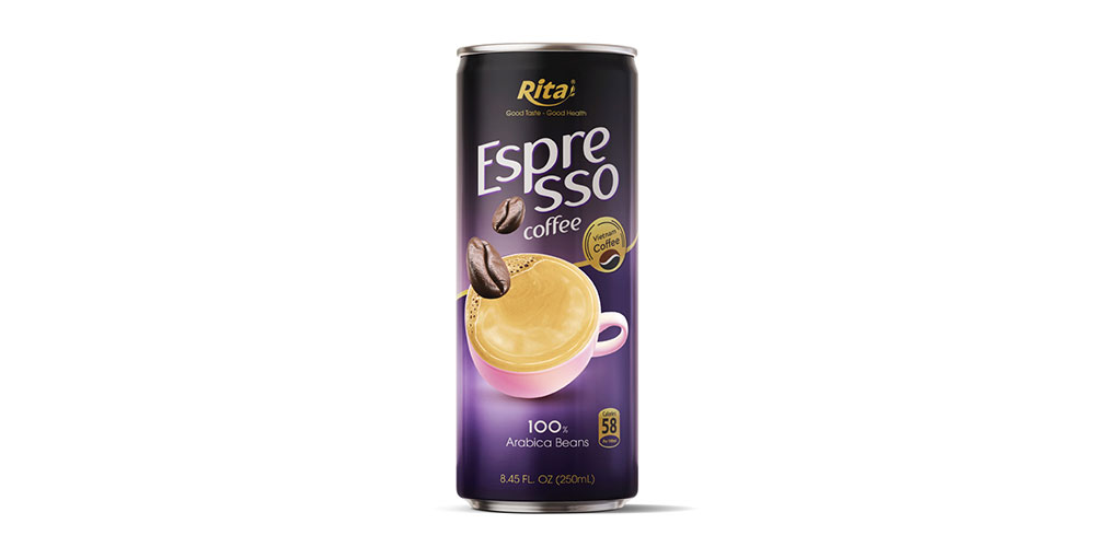 Espresso Coffee 250ml Alu Can Rita Brand