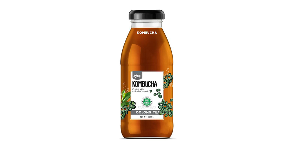 Kombucha Oolong Tea 250ml Glass Bottle Rita Brand