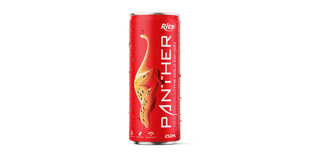 Panther Energy Drink 250ml Can - Red