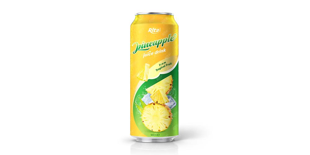 Pineapple Juice 500ml Alu Can Rita Brand