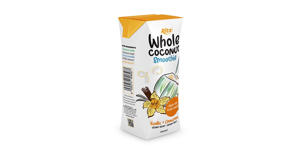 Vanilla Cinnamon Coconut Smoothie 200ml Paper Box