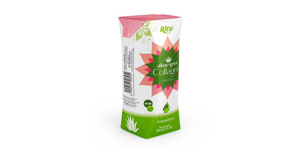 Aloe Vera Collagen Drink 200ml Paper Box Rita Brand