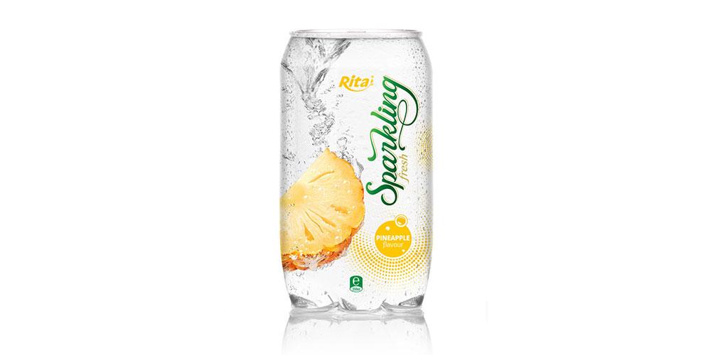 OEM Beverage Pineapple Flavor Sparkling Water 350ml Can Rita Brand