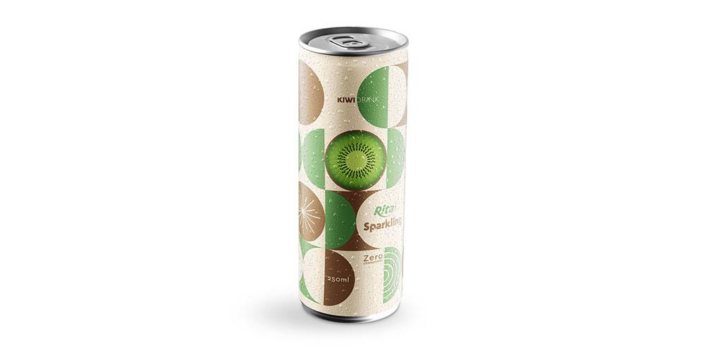 Sparkling Kiwi Flavor Water 250ml Alu Can Rita Brand