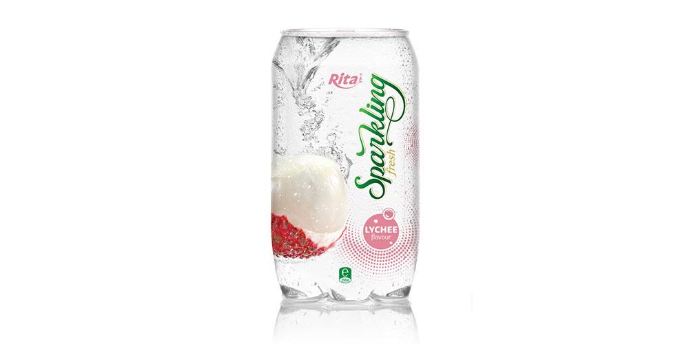 OEM Beverage Lychee Flavor Sparkling Water 350ml Can Rita Brand